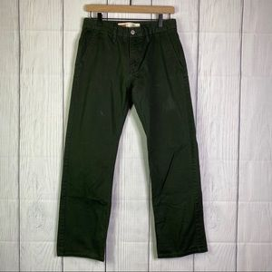 Levi's Olive Green 505 Straight Jeans